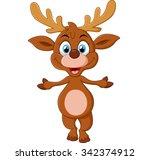cartoon deer presenting | Shutterstock . vector #342374912