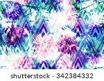 spring floral seamless pattern... | Shutterstock . vector #342384332