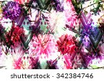 vibrant floral pattern with... | Shutterstock . vector #342384746