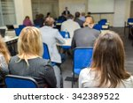 conference audience   people... | Shutterstock . vector #342389522