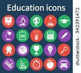 education icons set | Shutterstock .eps vector #342391472