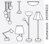 Illustration Of Lamp Set ...
