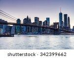 new york   august 22  views of ... | Shutterstock . vector #342399662