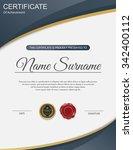 vector certificate template. | Shutterstock .eps vector #342400112