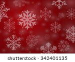 red snowflakes background | Shutterstock .eps vector #342401135