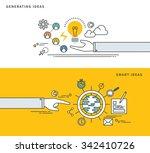 simple line flat design of... | Shutterstock .eps vector #342410726