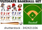 Children In Baseball Team And...