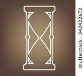 hourglass. black silhouette....   Shutterstock . vector #342422672