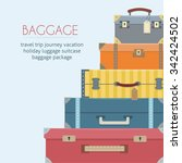 baggage  luggage  suitcases  on ... | Shutterstock .eps vector #342424502