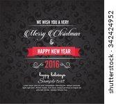 vector elegant christmas... | Shutterstock .eps vector #342424952