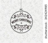 vector elegant christmas... | Shutterstock .eps vector #342424985