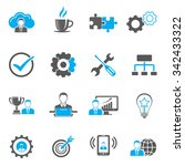 business icons set | Shutterstock .eps vector #342433322