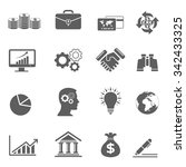 black business icons | Shutterstock .eps vector #342433325