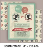 wedding invitation card... | Shutterstock .eps vector #342446126