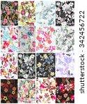 seamless flower background  ... | Shutterstock .eps vector #342456722