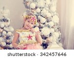 A Cute Little Girl In A...
