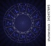 set of symbol zodiac sign....   Shutterstock . vector #342457895
