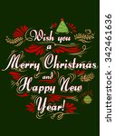 typographical greeting card.... | Shutterstock .eps vector #342461636