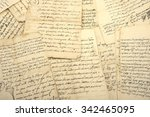 Pile Of Old Vintage Manuscripts