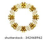 golden  ornamental  circle... | Shutterstock . vector #342468962