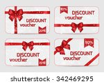 set of ornamental discount... | Shutterstock .eps vector #342469295