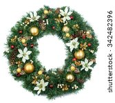 wreath. | Shutterstock . vector #342482396