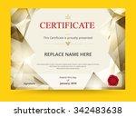 geometry diploma certificate... | Shutterstock .eps vector #342483638