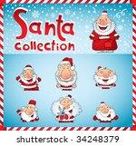 santa claus collection | Shutterstock .eps vector #34248379