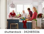 family with grandparents... | Shutterstock . vector #342485036