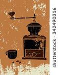 coffee mill   Shutterstock .eps vector #342490316