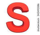 3d rendering letter s isolated... | Shutterstock . vector #342492086