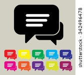 flat speech bubble icon with... | Shutterstock .eps vector #342496478