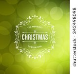 christmas card design   elegant ... | Shutterstock .eps vector #342498098