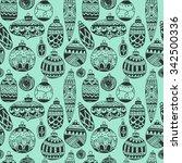 beautiful pattern drawn toys... | Shutterstock .eps vector #342500336