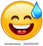 smiling emoticon with open... | Shutterstock .eps vector #342501092