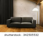 living room with the modern...   Shutterstock . vector #342505532