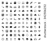 technology 100 icons set for... | Shutterstock . vector #342506252
