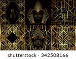 art deco vintage patterns and... | Shutterstock .eps vector #342508166