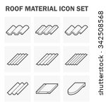 roof sheet or roof tile icon... | Shutterstock .eps vector #342508568