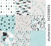 vector set with sketch texture  ... | Shutterstock .eps vector #342508856