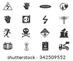 high voltage symbol web icons | Shutterstock .eps vector #342509552