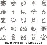 amusement park icons | Shutterstock .eps vector #342511865