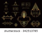 art deco vintage patterns and... | Shutterstock .eps vector #342513785