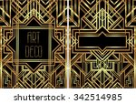 art deco vintage patterns and... | Shutterstock .eps vector #342514985