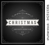 christmas typography greeting... | Shutterstock .eps vector #342515306