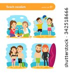 people on beach vacation.... | Shutterstock .eps vector #342518666