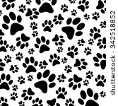 animal footprint pattern | Shutterstock . vector #342518852
