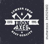 lumber shop vintage logo ... | Shutterstock .eps vector #342525602