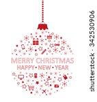merry christmas | Shutterstock .eps vector #342530906