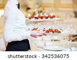 restaurant catering services.... | Shutterstock . vector #342536075